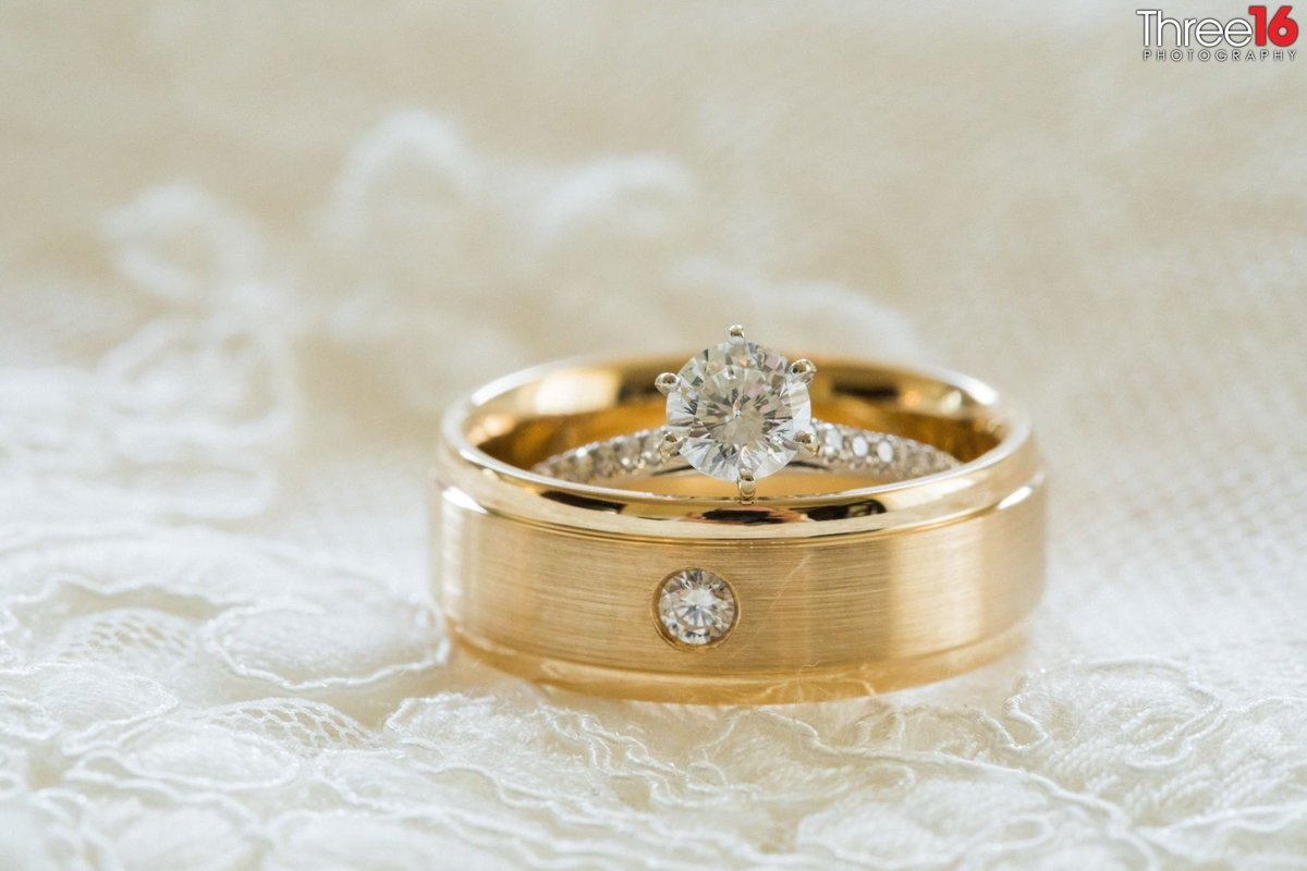 Bride and Grooms wedding rings