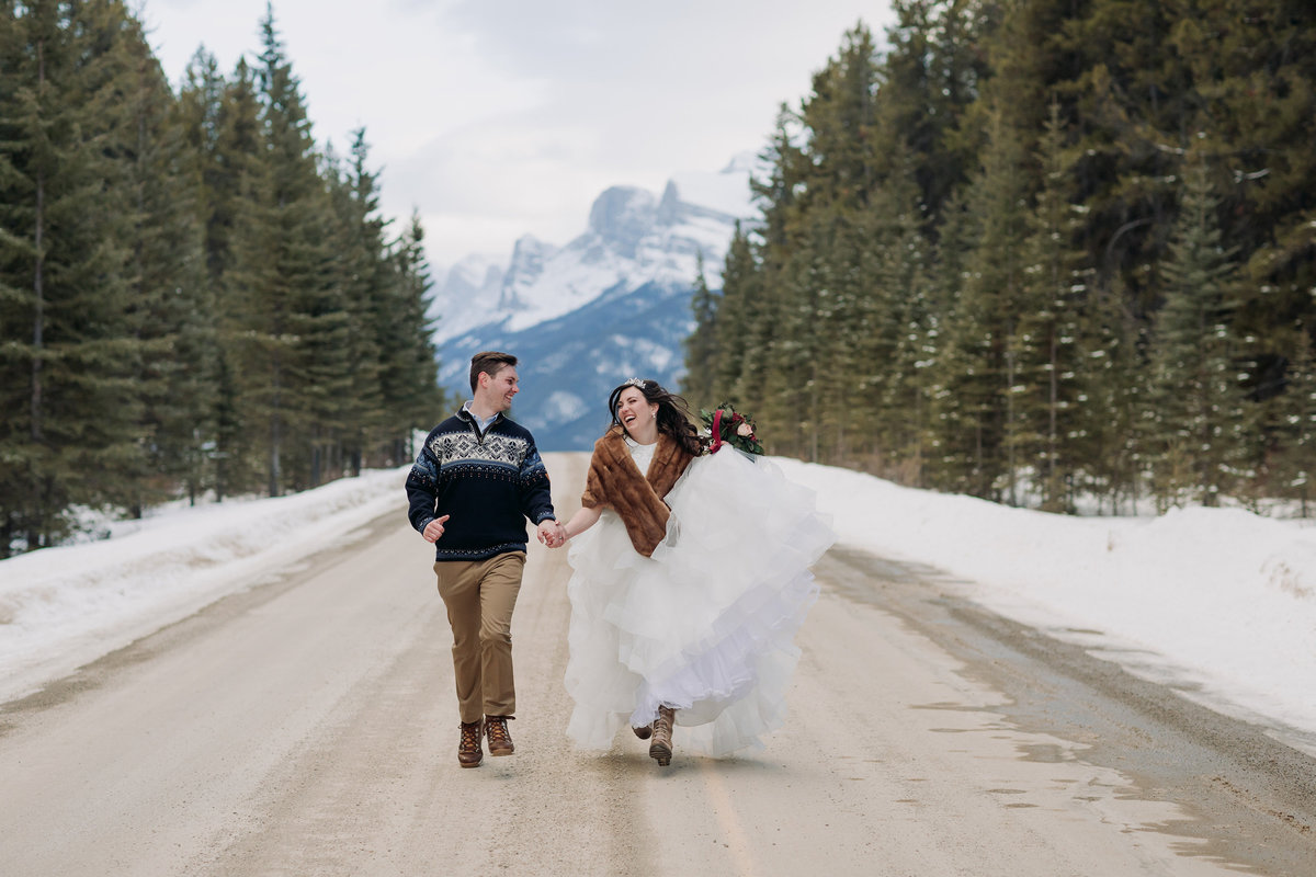 run away to banff elopement wedding photographer