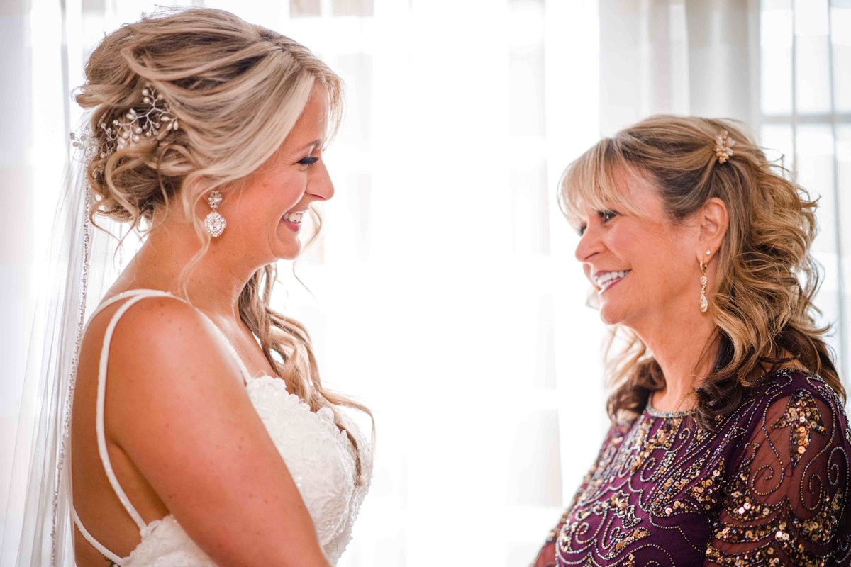 08 Bride and her mother at Water's Edge Wedding