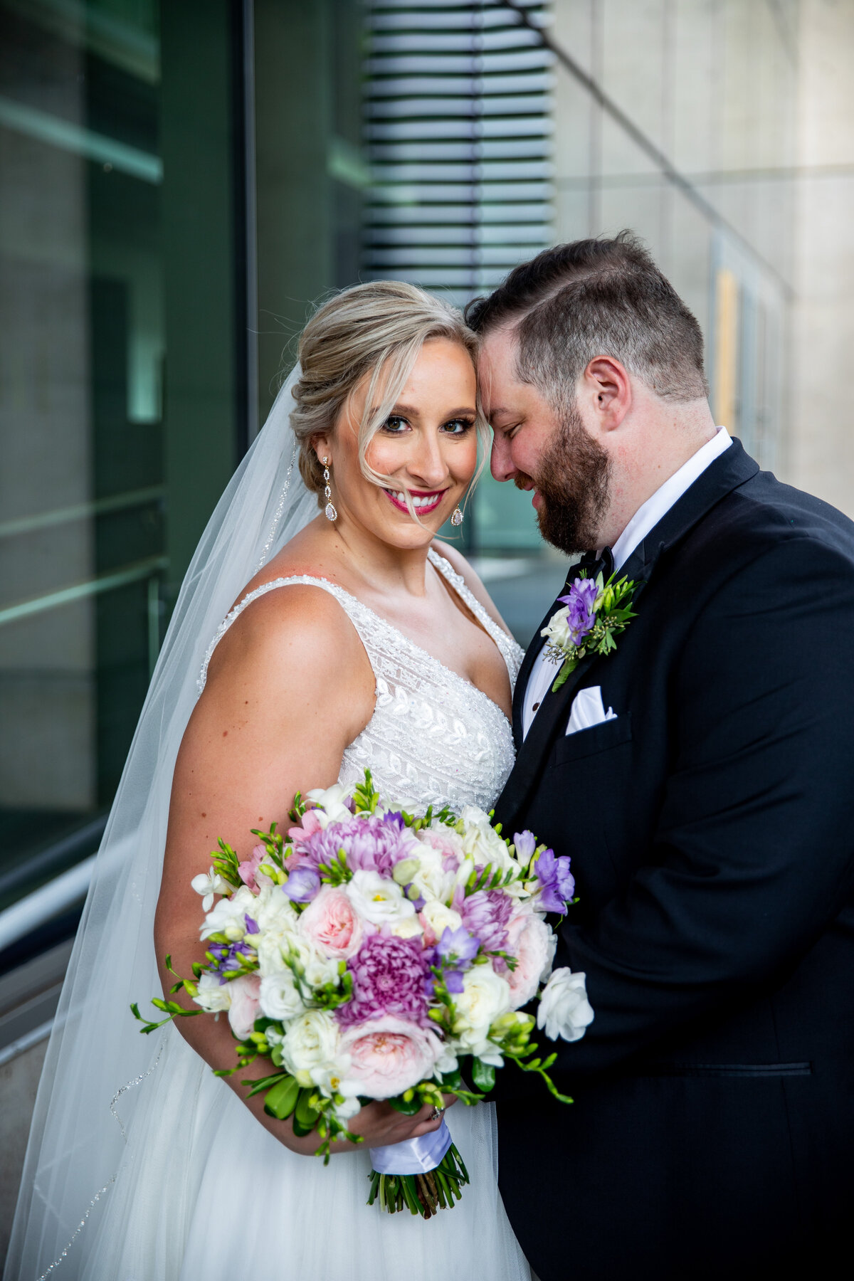 Grand-Rapids-Rooftop-Wedding-bride-groom-portrait
