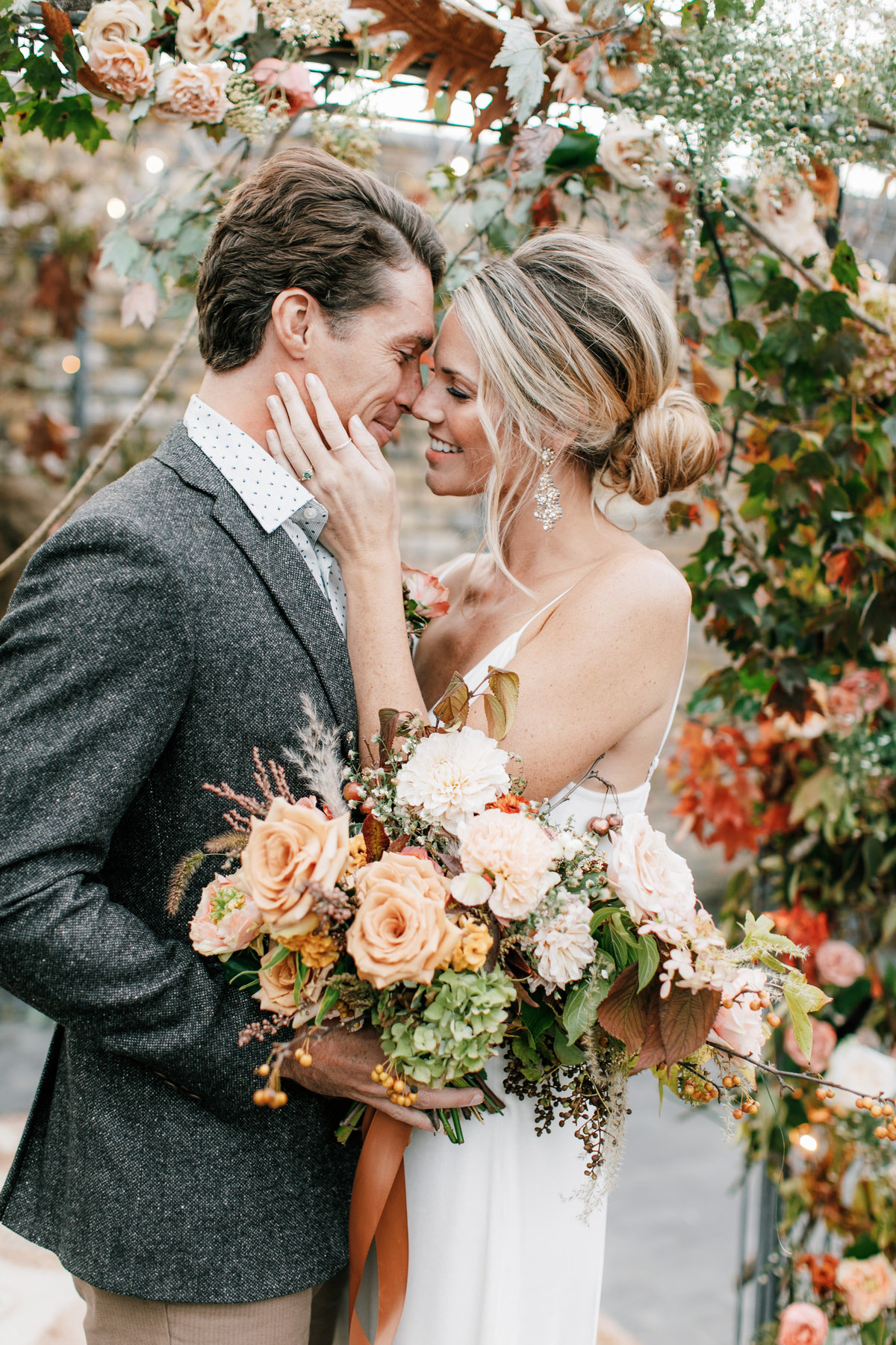Magdalena Studios Bohemian Stylish and Chic Fall Wedding at Terrain Anthropologie_57