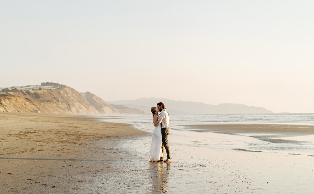 Fran + Ben San Francisco Fort Funston Wedding Portraits Cassie Valente Photography 0082