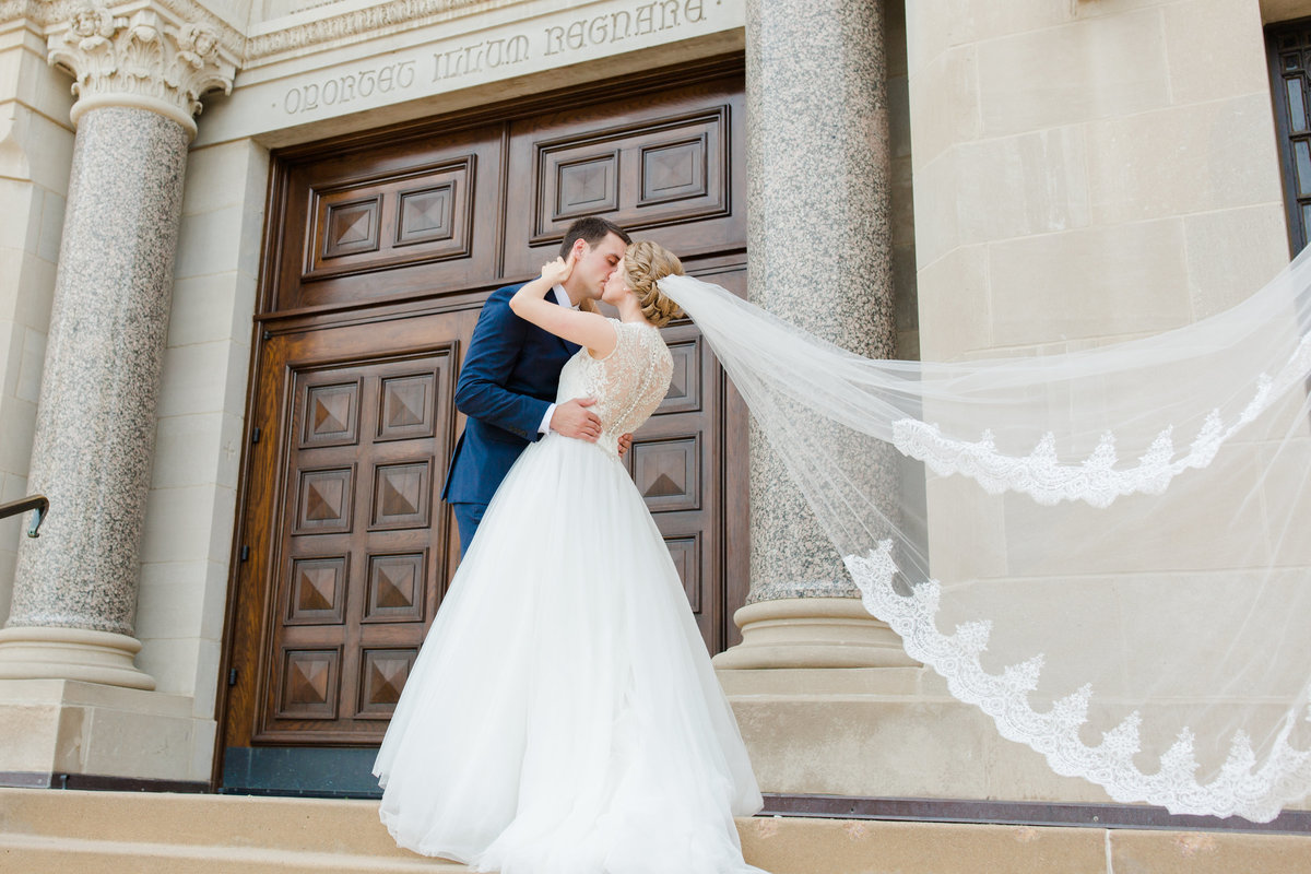 Catholic Wedding  at St. Joseph's Cathedral in Sioux Falls, South Dakota