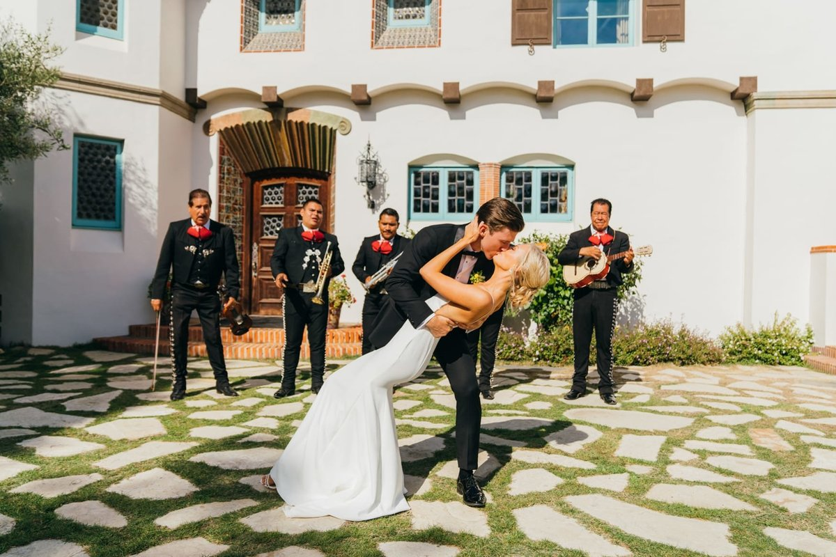 Wedding at the adamson house in malibu