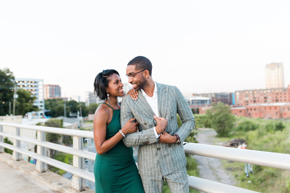 Engagement photos in Durham