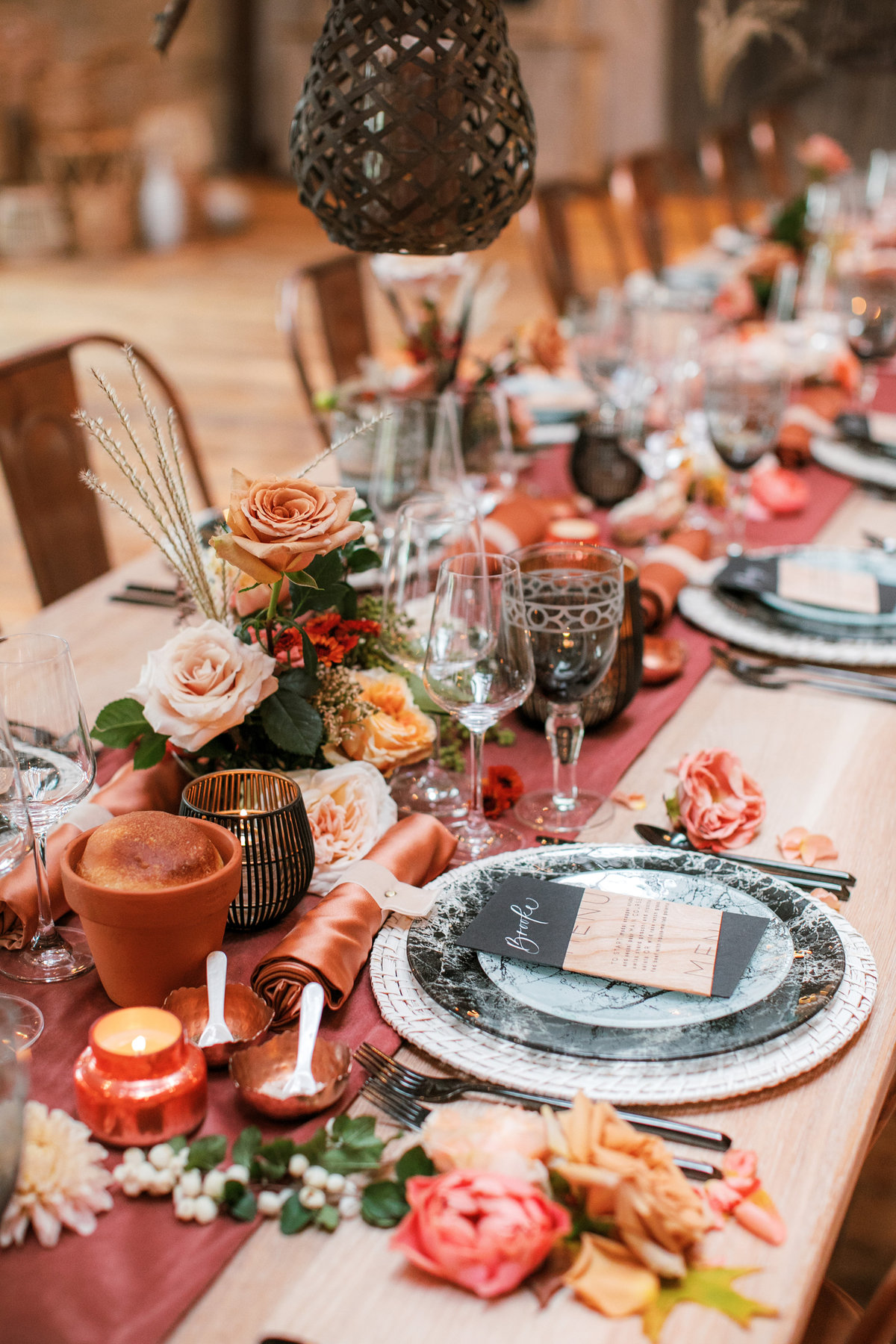 Magdalena Studios Bohemian Stylish and Chic Fall Wedding at Terrain Anthropologie_19