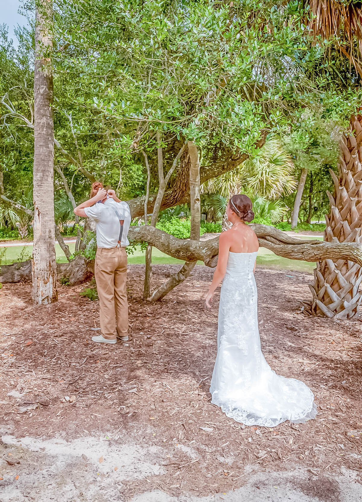 Bald Head Island Wedding Photography - Anna and Ray - Beach First Look - Wilmington Photographers Team