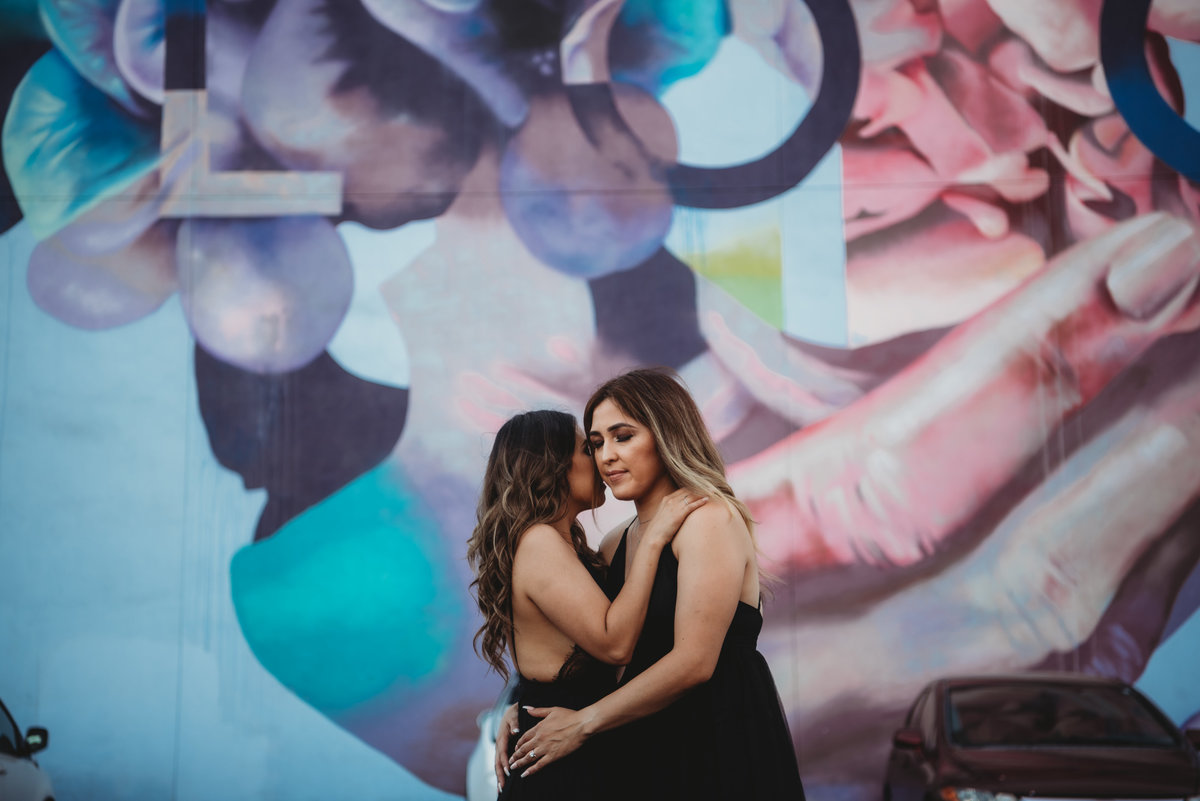 Sara and Vanessa-DTLA Engagement Session45