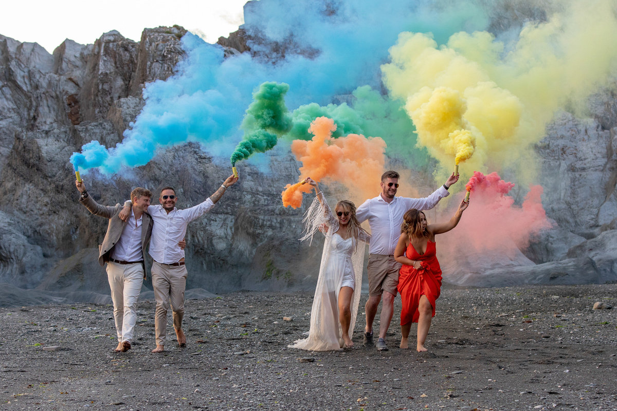 Tunnels Beaches smoke bomb photo