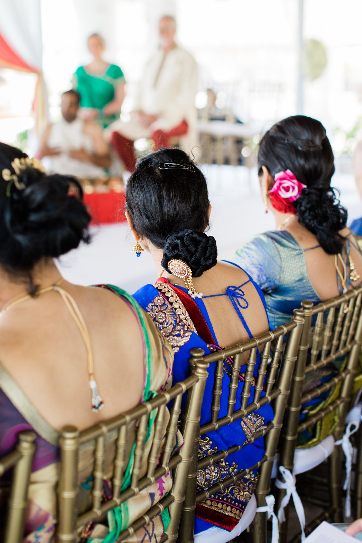 Beautiful Sari's and hair details captured by Rebecca Cerasani Photography