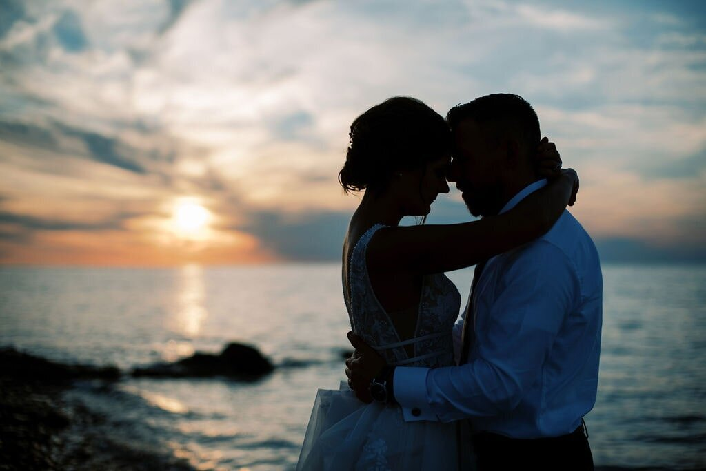 Bay Harbor Beach Wedding with The Day's Design Florist Lake Michigan Sunset-min