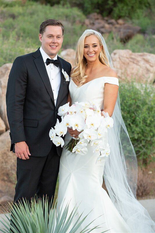 sanctuary-camelback-resort-wedding-bride-and-groom-white-orchid-bouquet