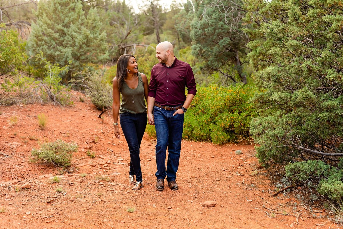 Monica + Austin - Sedona Engagement Session - Cathedral Rock - Lunabear Studios_0181