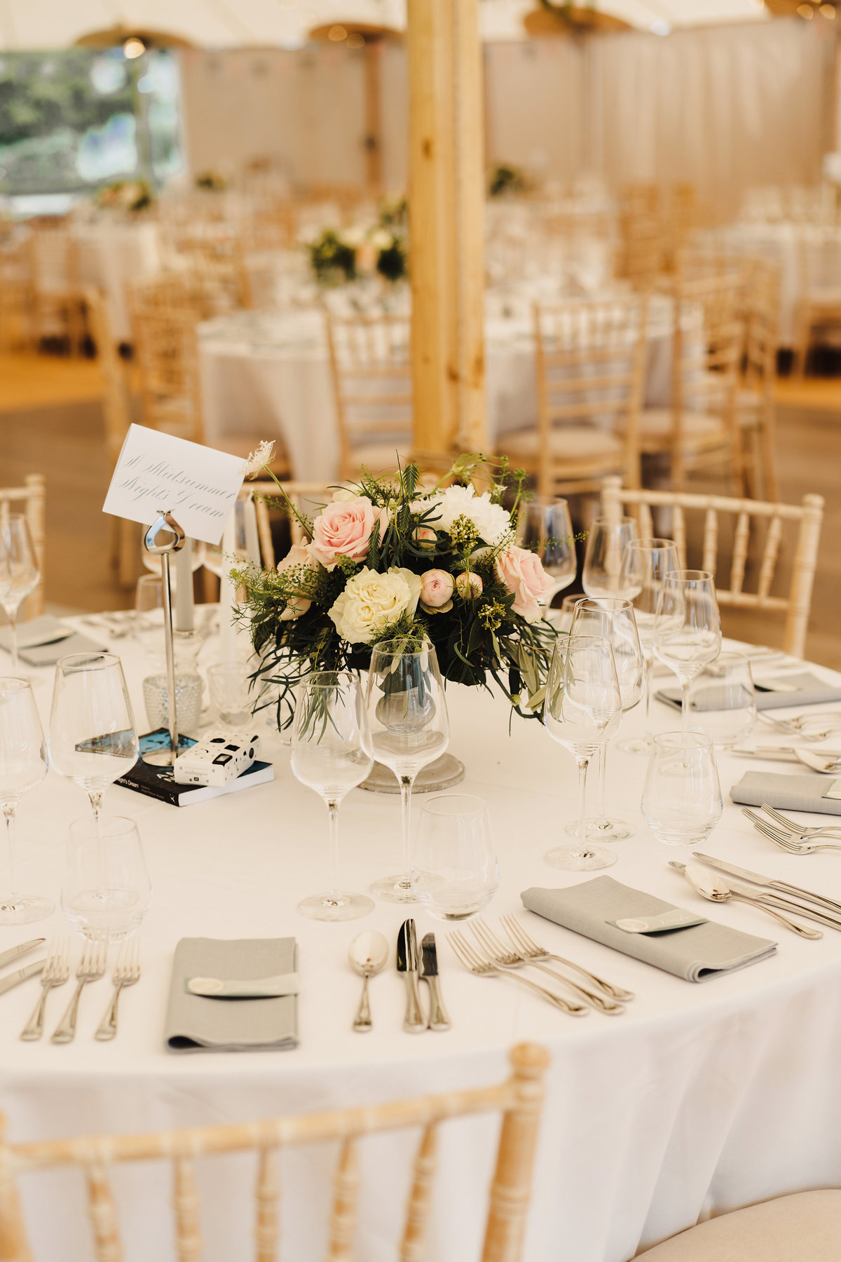 Event Table Setting Scotland | Jenni Liandu Calligraphy