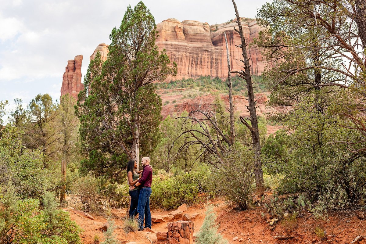 Monica + Austin - Sedona Engagement Session - Cathedral Rock - Lunabear Studios_0174