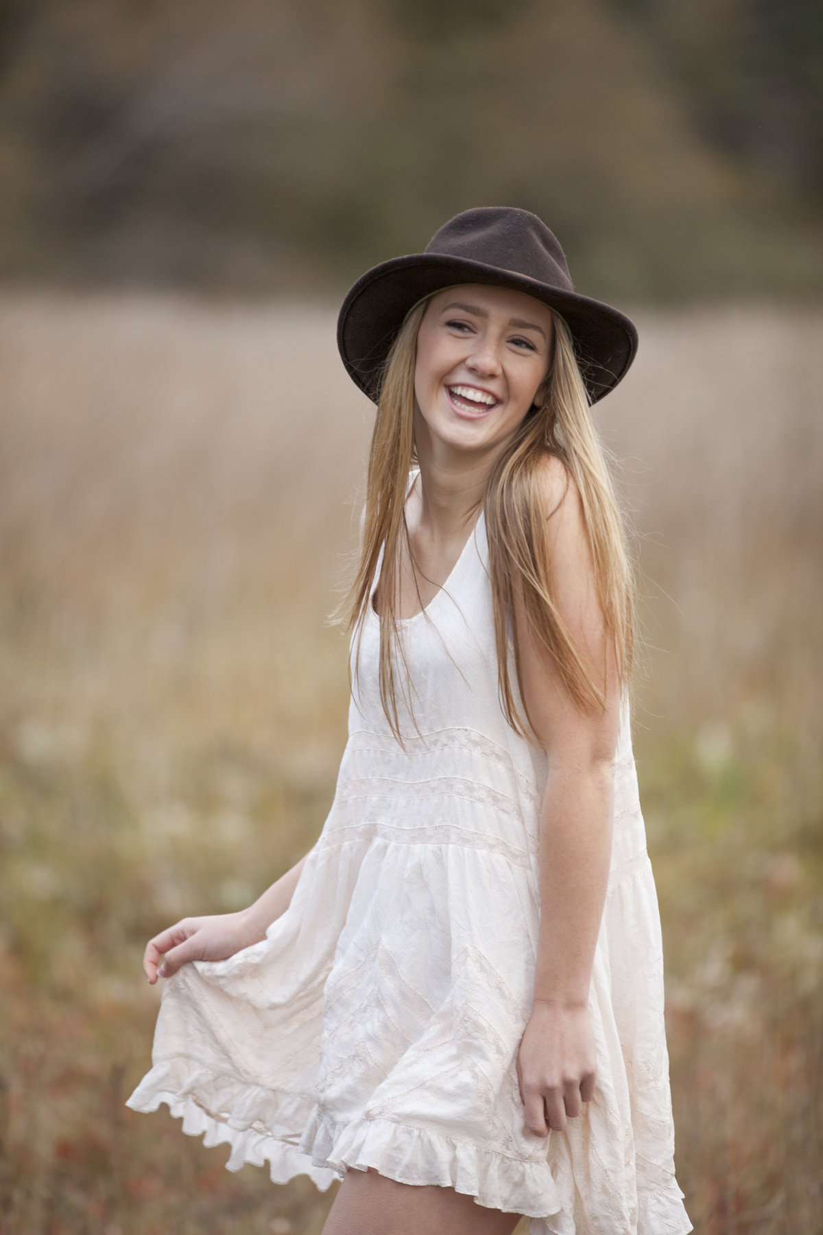 seattle photography skagit valley high school senior field of flowers portrait