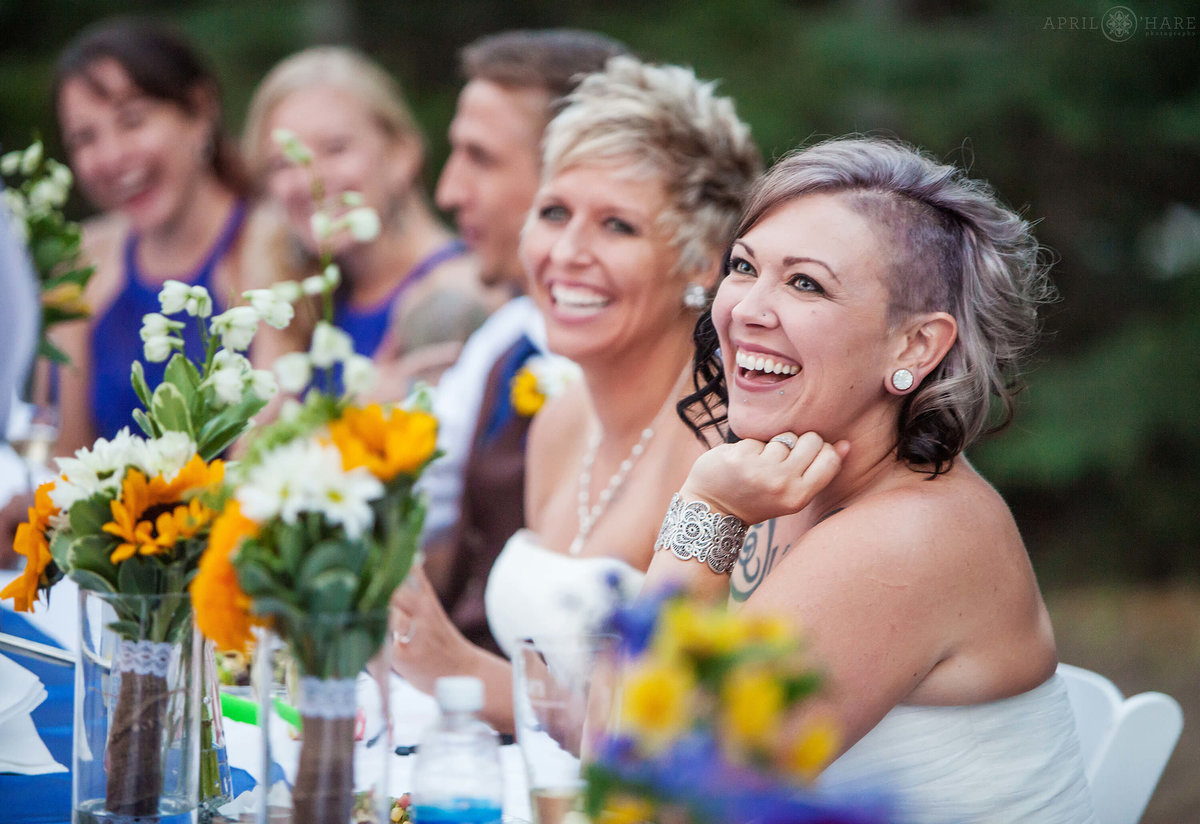 Happy Wedding Reception for same sex couple in Colorado