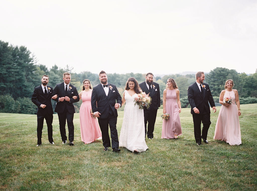 bridal party greenville country club wedding