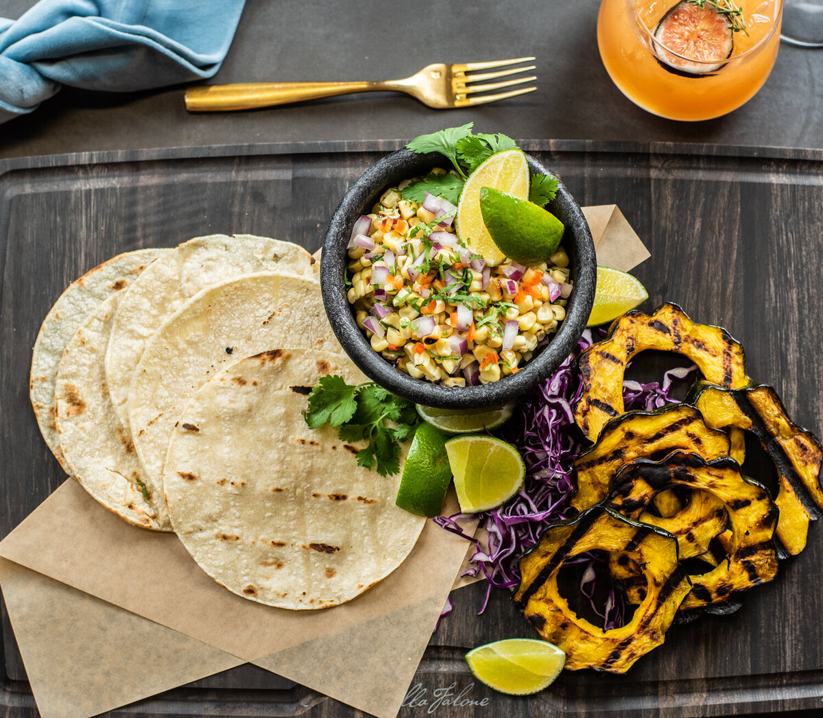 grilled squash tacos summer catering menu
