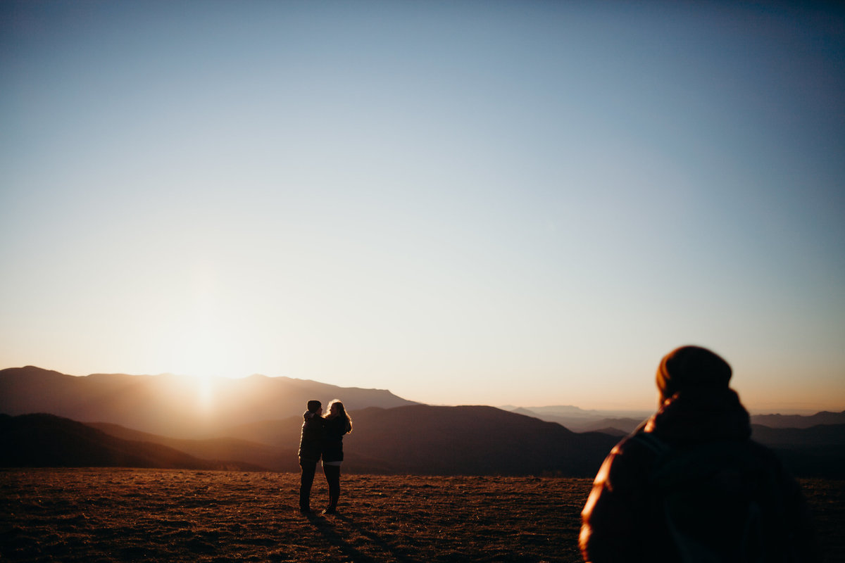 Engagement session at Max Patch by Greenville Photographers Simply Violet Photography