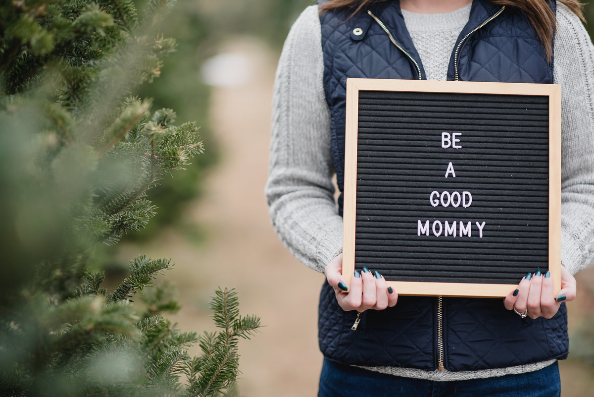 Christmas Tree Farm Baby Announcement10