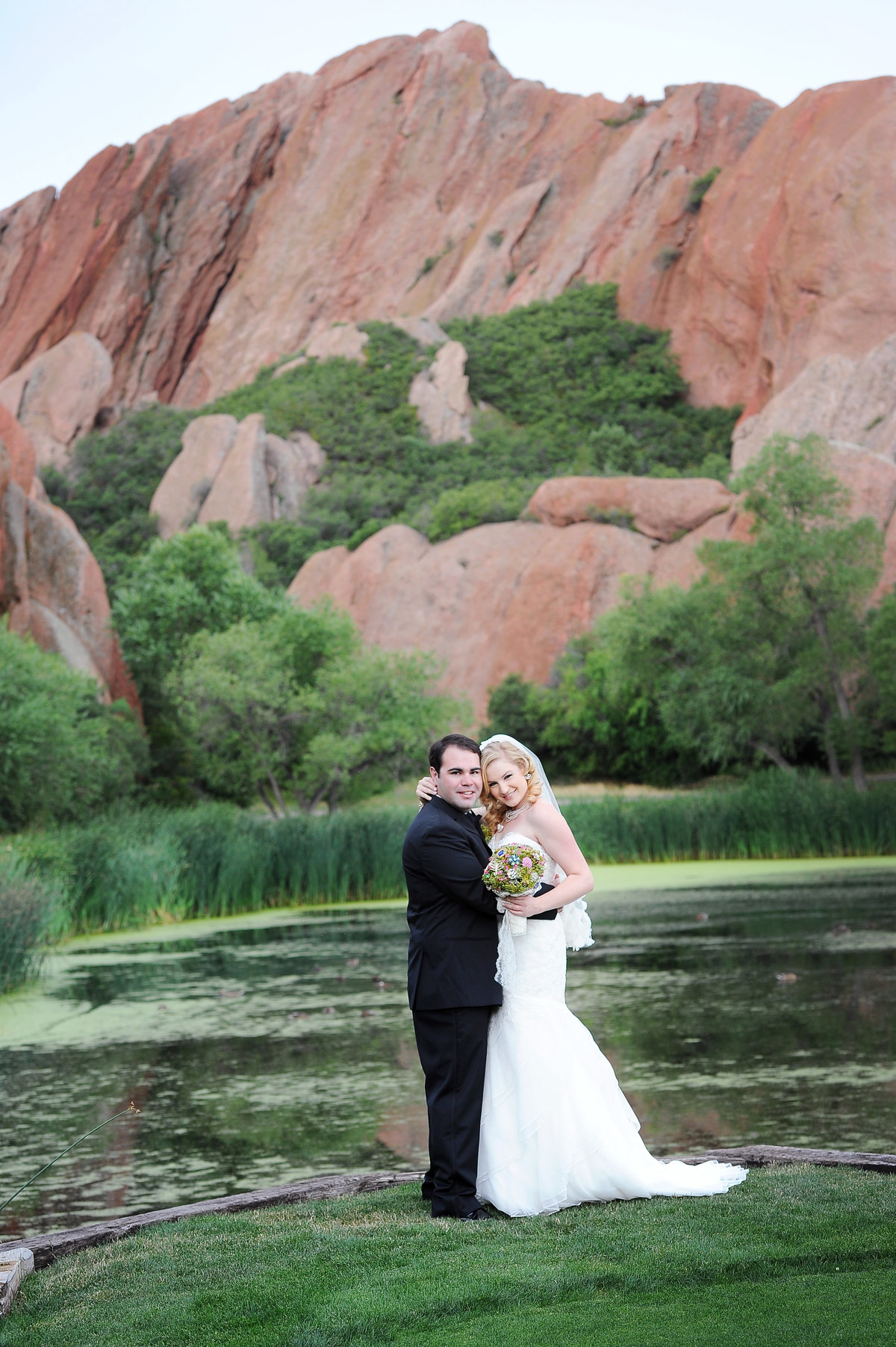 Bride and Groom at Arrowhead Golf Course wedding