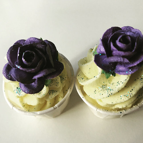 lavender lemon piped bath truffles