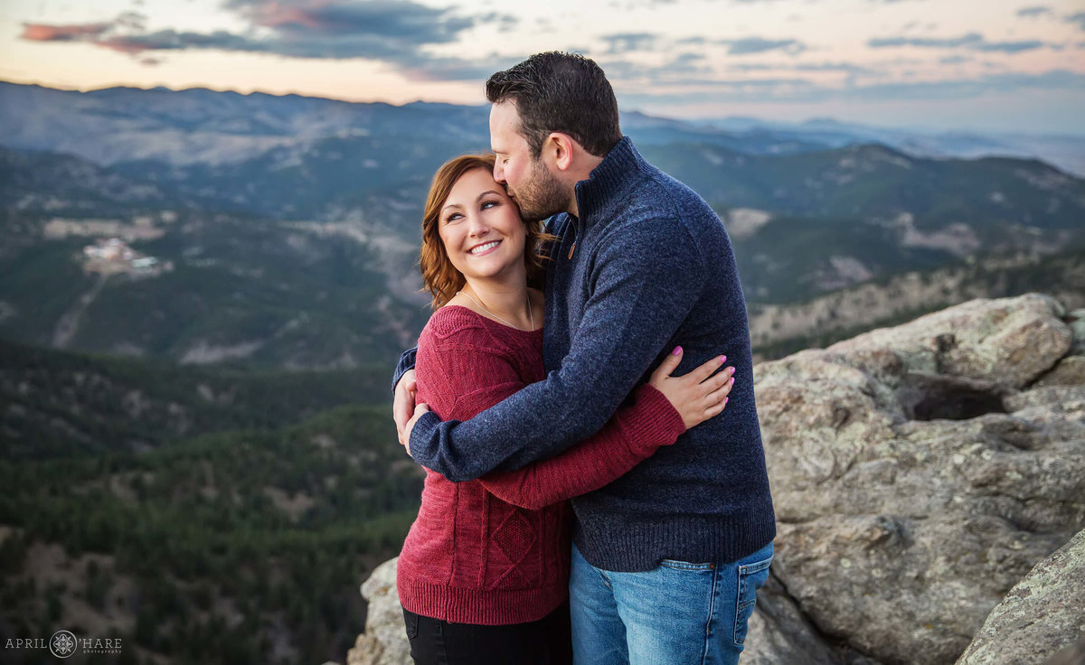 Boulder Colorado Lost Gulch Overlook Engagement Photography
