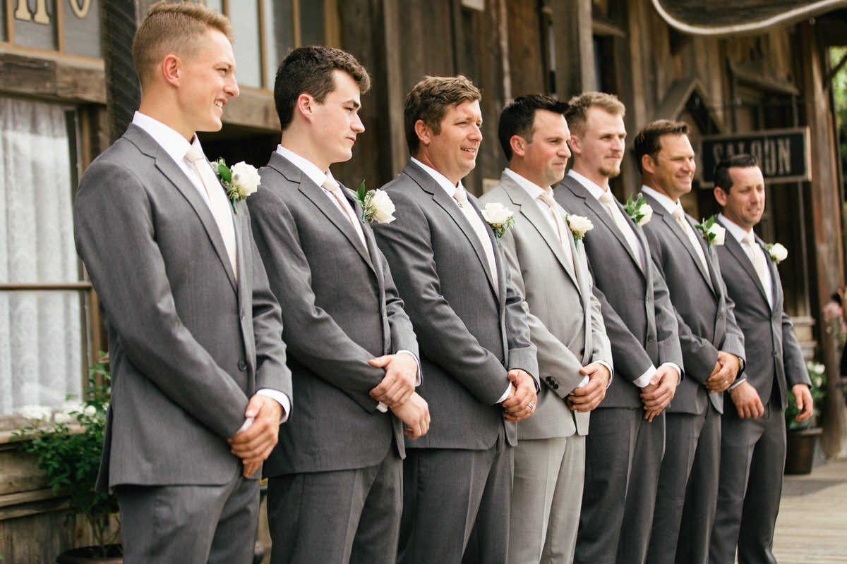 Groom and groomsmen at 1880 Union Hotel Wedding
