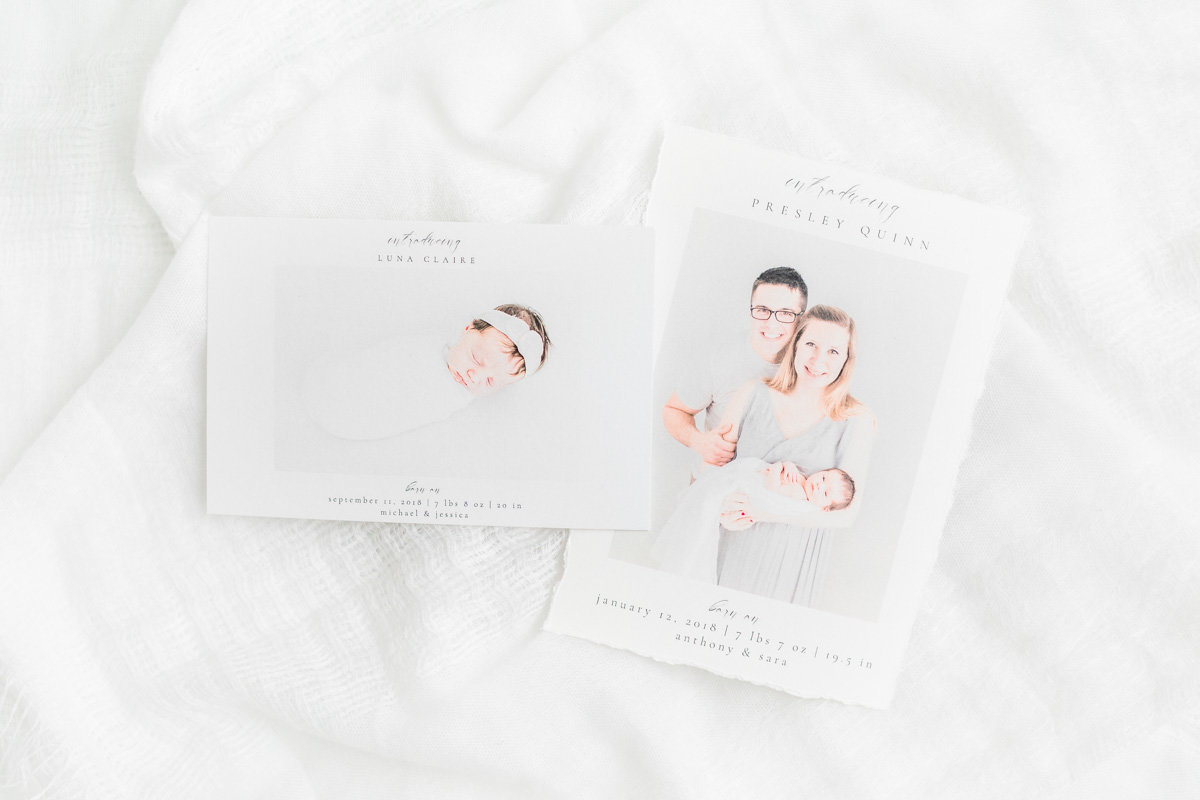 Newborn and Family Photographer in Cleveland offering birth announcements albums and custom framing