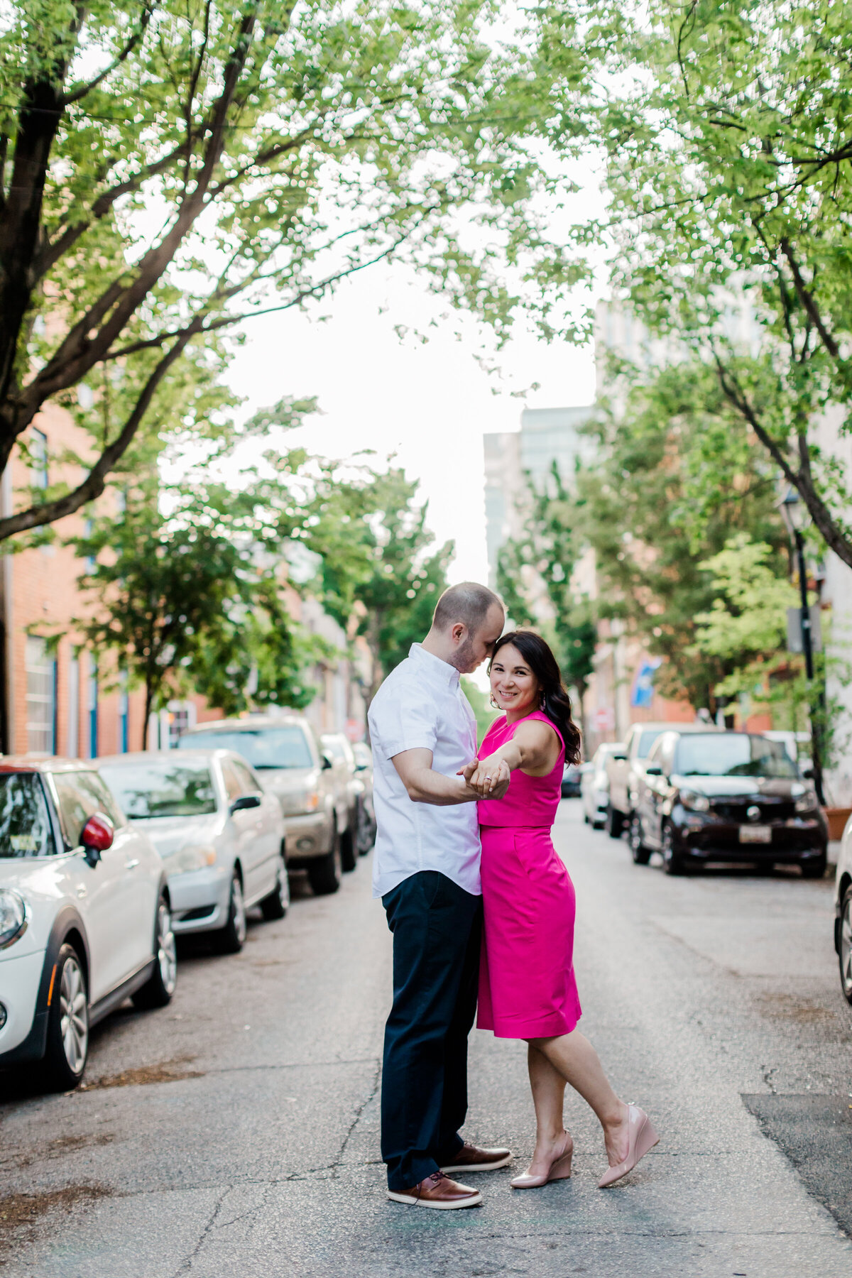 Engagement couple in baltimore maryland