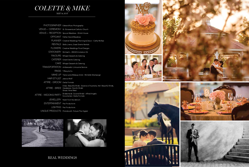 Calgary Bride Luxe 2016 Colette Mike wedding