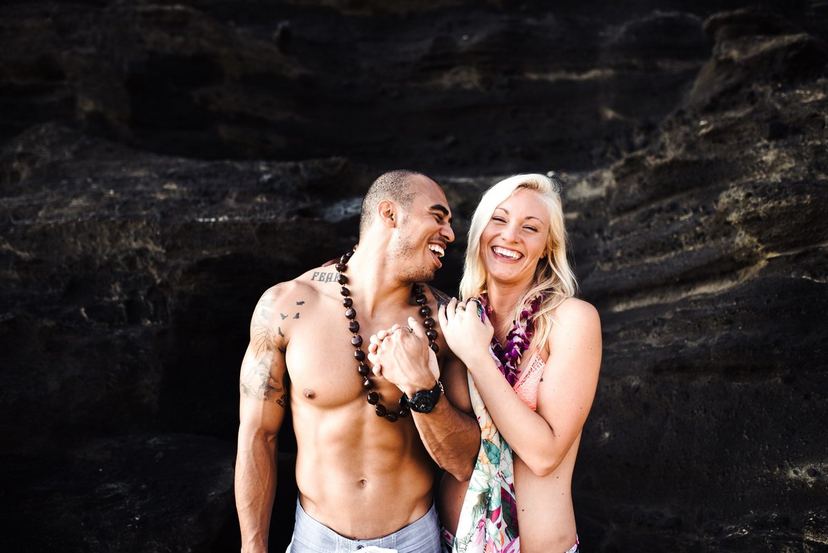 Eternity Beach Honolulu Hawaii Destination Engagement Session - 70