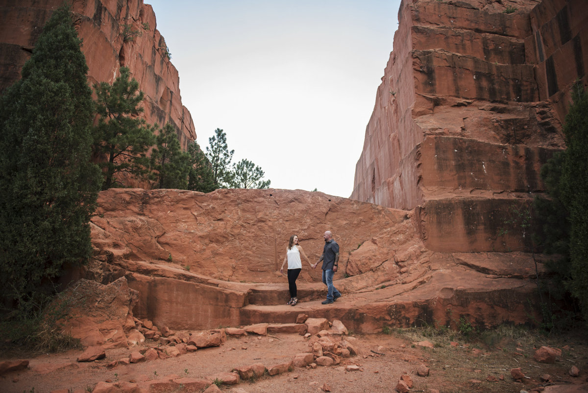 Man and woman walking in Red Rock Open Space