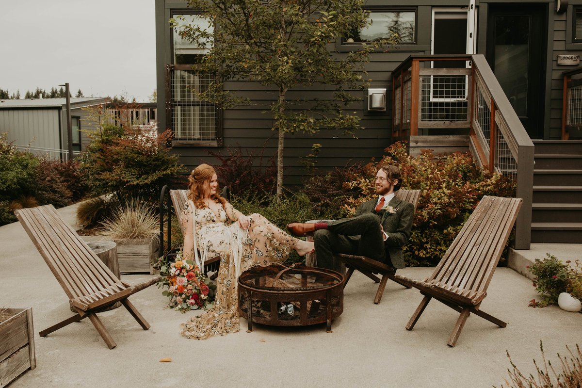 Marnie Cornell Photography - The Lodges on Vashon, Bohemian Wedding