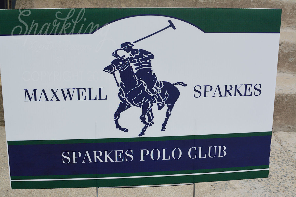 Sparkling Events Designs - Polo Party Welcome Yard Sign