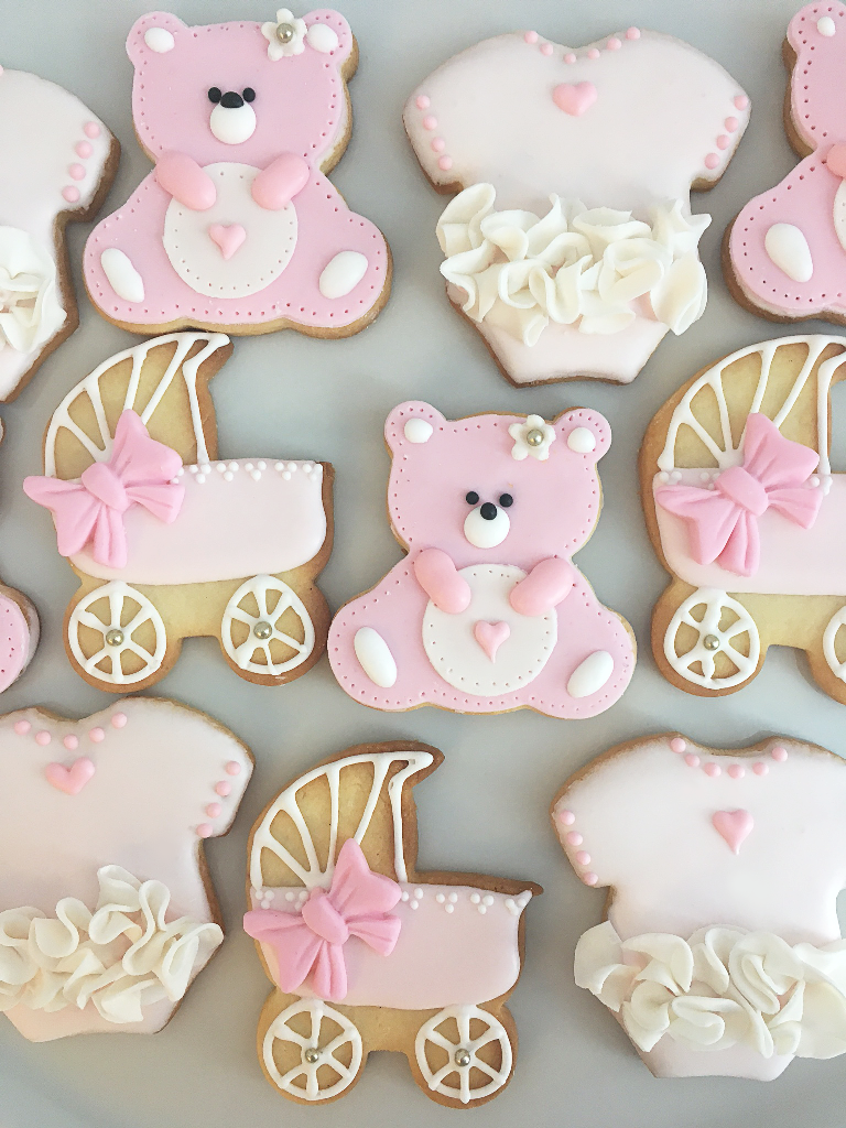 Whippt Baby Girl Shower Sugar Cookies