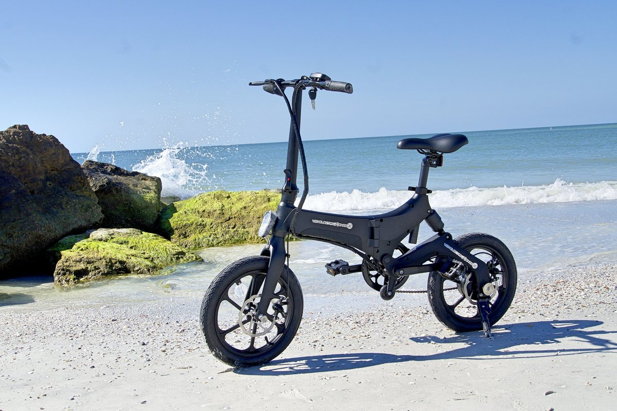 Black Go-Bike M4 on the beach