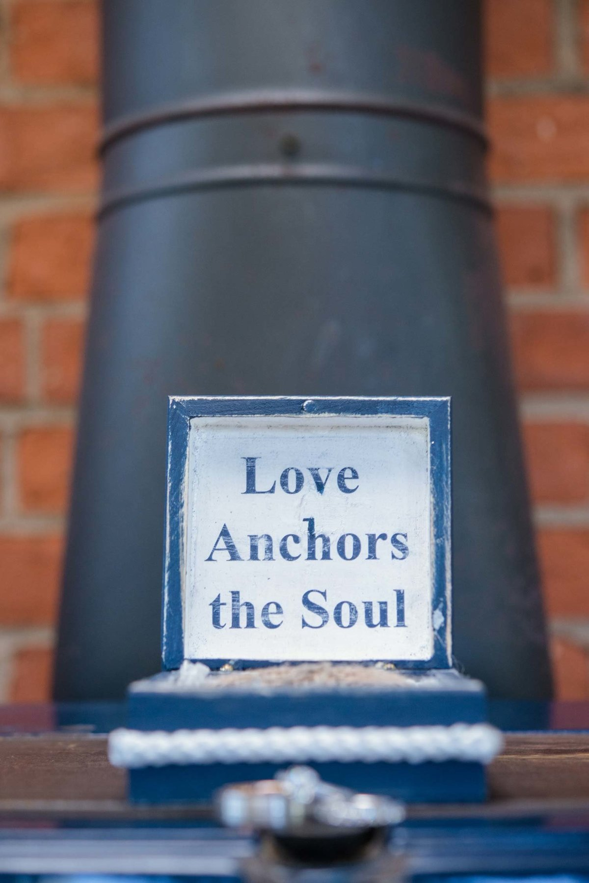Love anchors the soul sign at The Ram's Head Inn