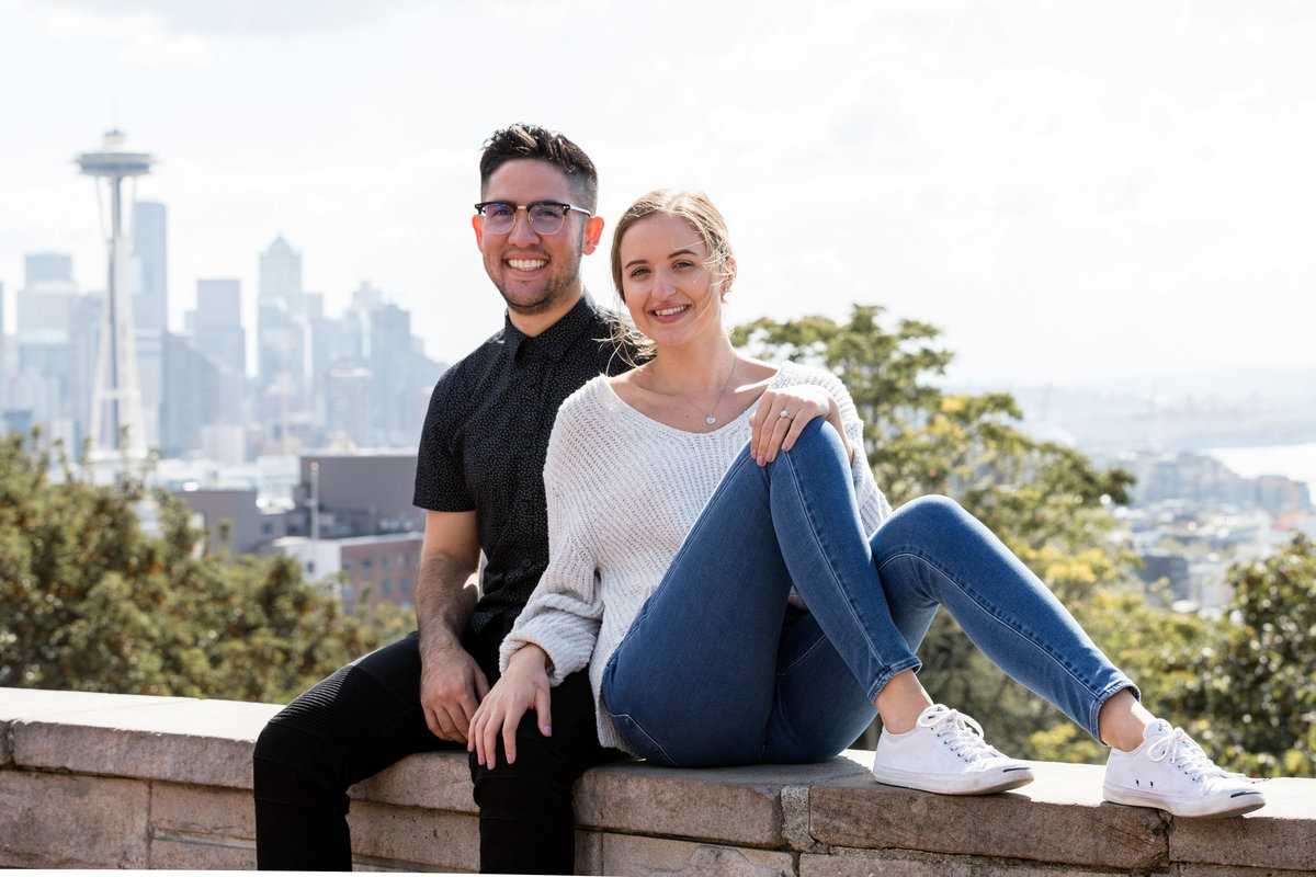 The best Seattle space needle engagement photography session