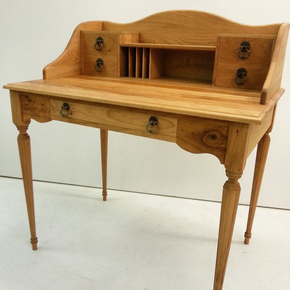 cherry secretary desk