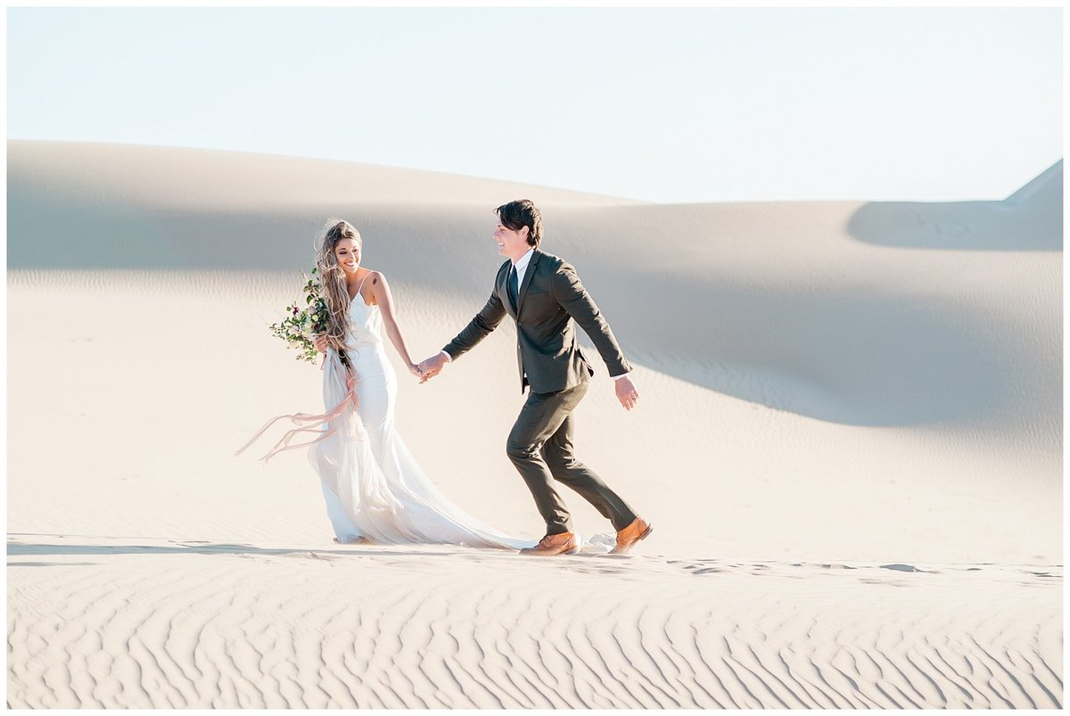 Glamis Desert Bohemian Wedding Styled elopement southern california sand dunes photo023