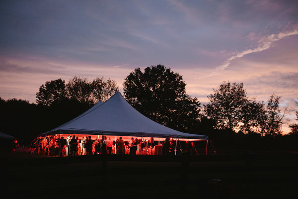 Farm home tent wedding fall rustic12