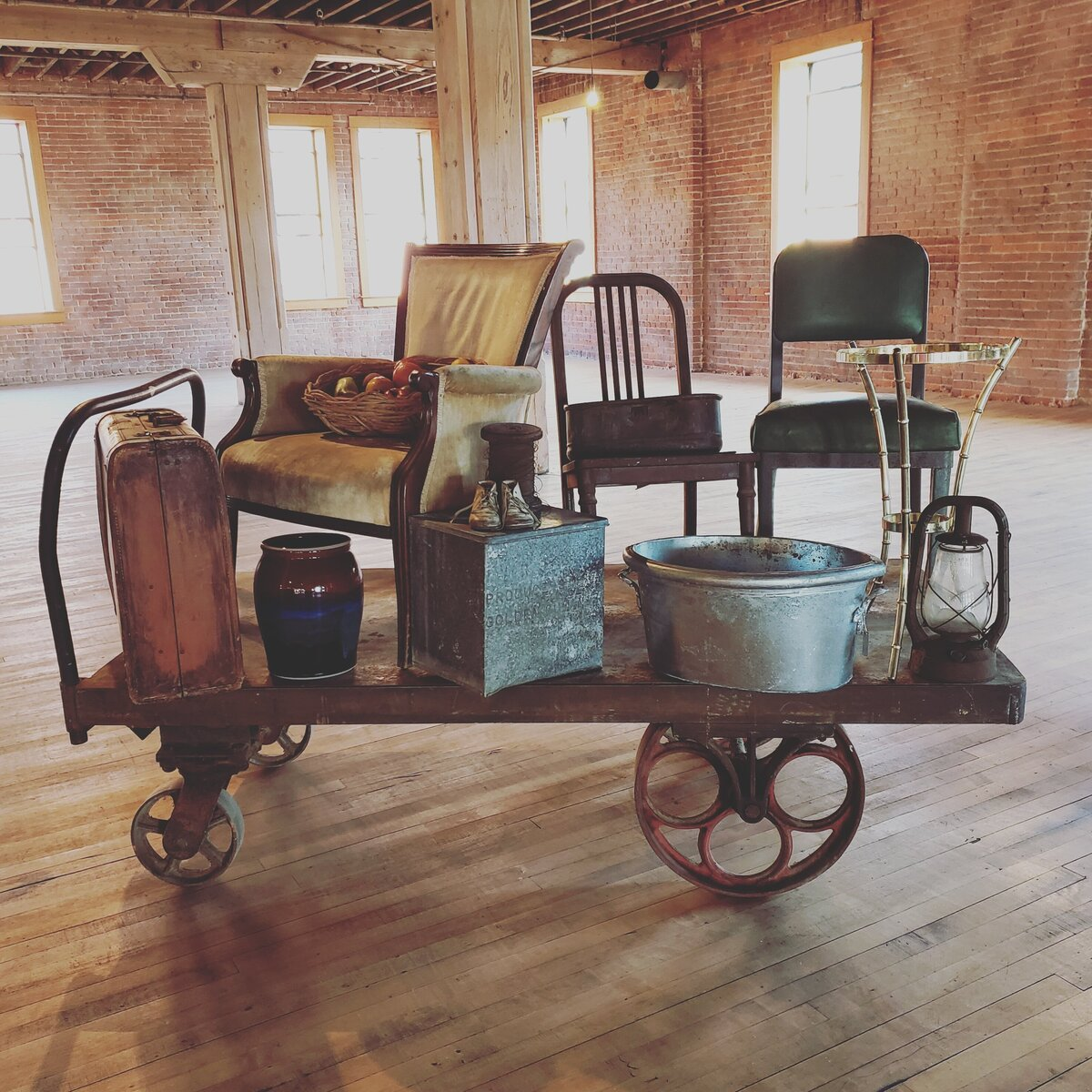 cart of furniture