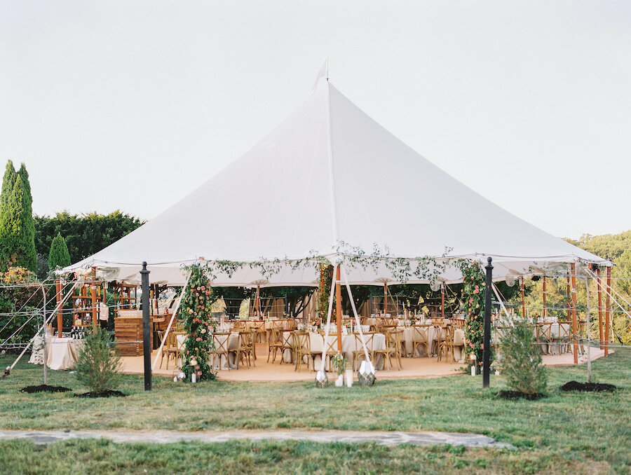 At Home Tented Wedding Washington DC Robert Aveau for © Bonnie Sen Photography