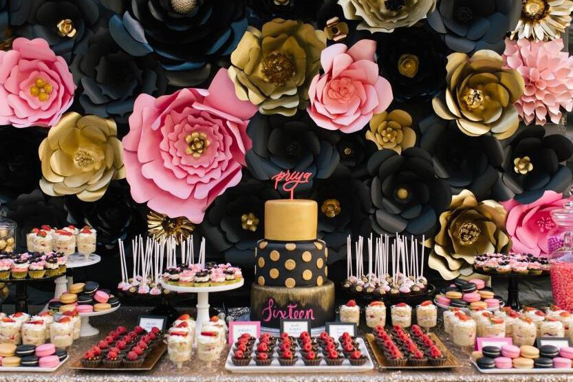 black-gold-pink-16th-birthday-party-100