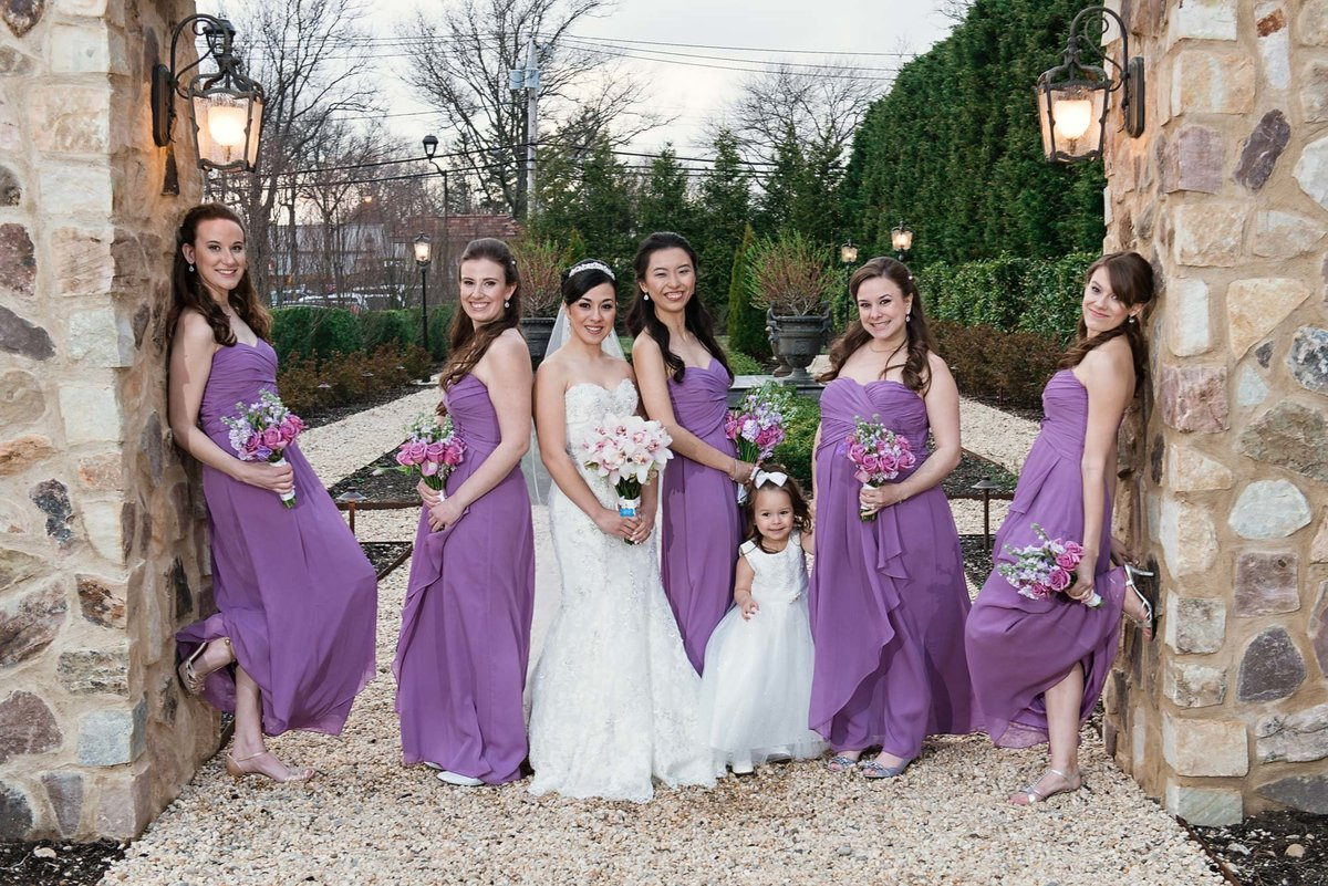 Bride and bridesmaids photo at Larkfield Manor