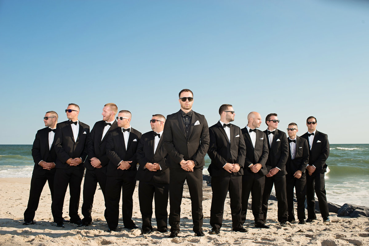 Groomsmen at Oceanbleu