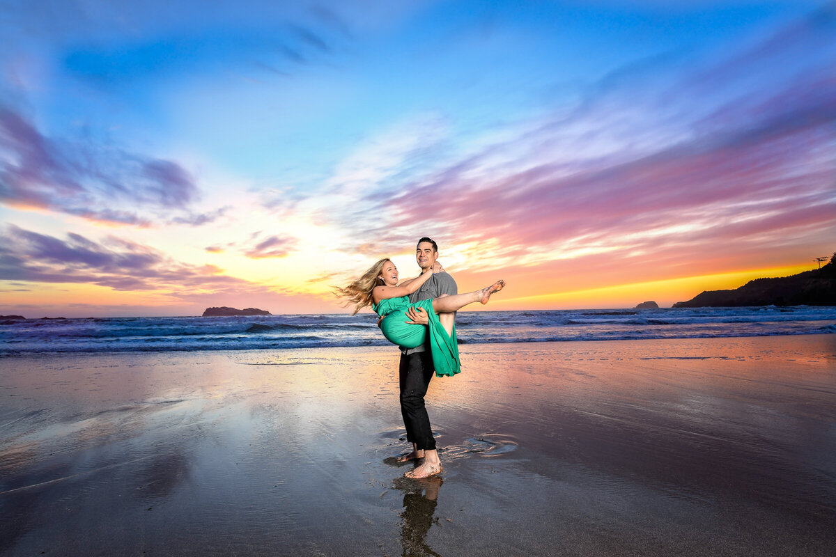 -Humboldt-County-Engagement-Photographer-Redway-Photographer-Parky's Pics-Trinidad-State-Beach-Sunset-engagement-5