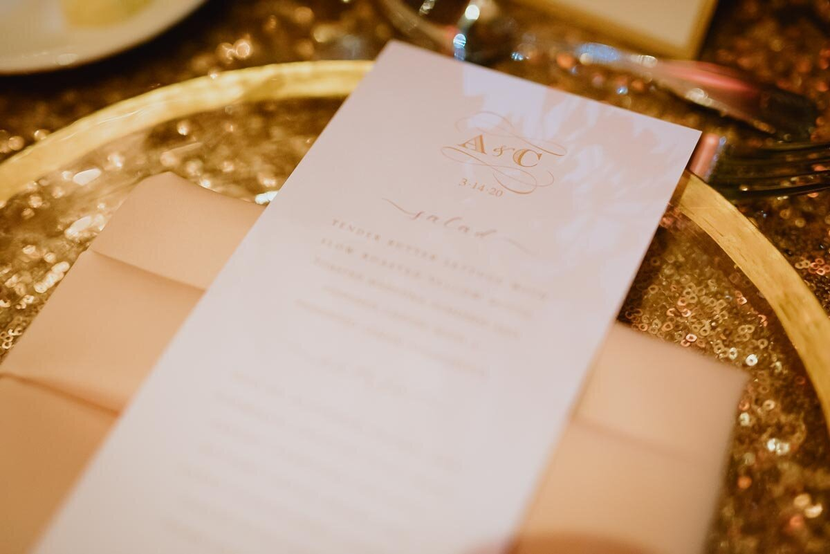 Wedding Menu C ard
